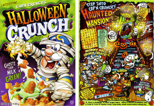 2007 halloween crunch cereal box - Captain Crunch Halloween