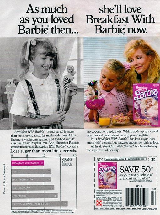 Breakfast With Barbie 1989 Breakfast With Barbie Ad