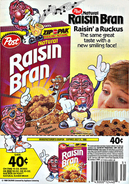 1988 California Raisins Ad