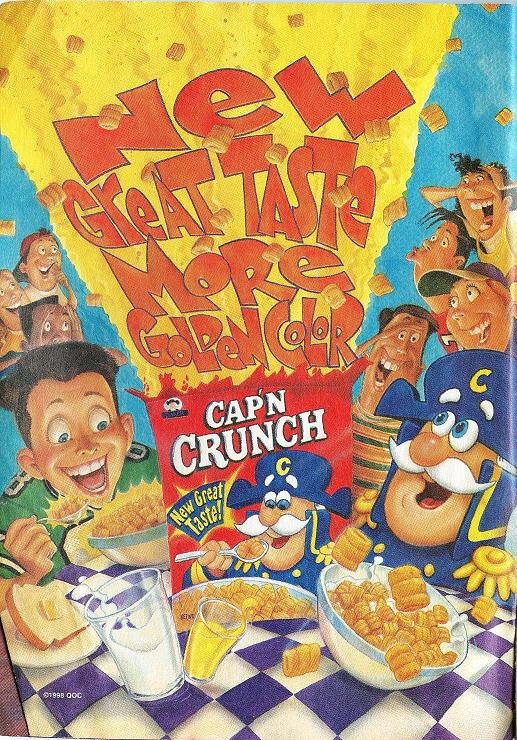 1998 capn crunch ad - Captain Crunch Halloween