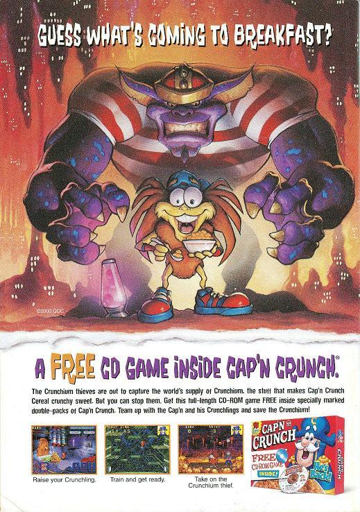 2000 Cap'n Crunch cd Game ad