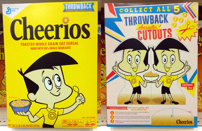 2015 Retro Throwback Cheerios Box