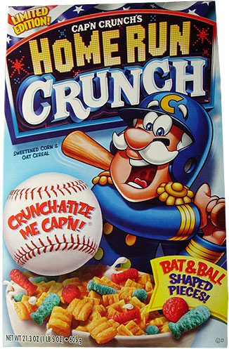 2008 home run crunch cereal box - Captain Crunch Halloween