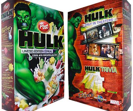 Hulk Hulk Cereal Box