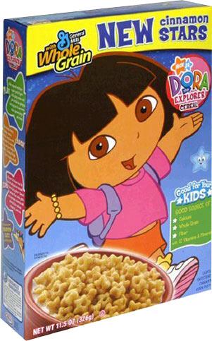 Dora The Explorer: Dora The Explorer Cereal Box