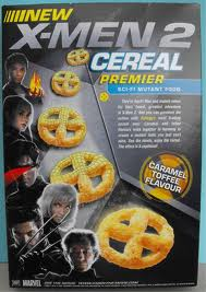 X-men 2 Cereal Box Back