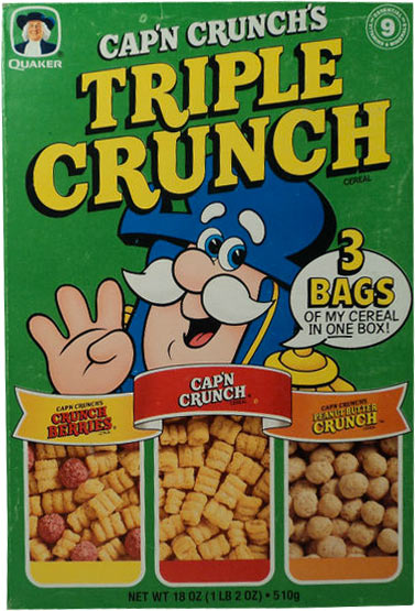 Triple Crunch Cereal Box