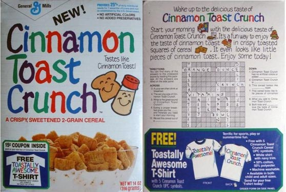 Early Cinnamon Toast Crunch Box
