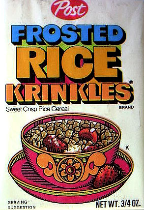 Frosted Rice Krinkles 3/4 Ounce Box