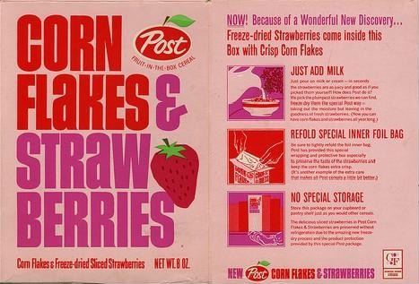 Corn Flakes & Strawberries - Front & Back
