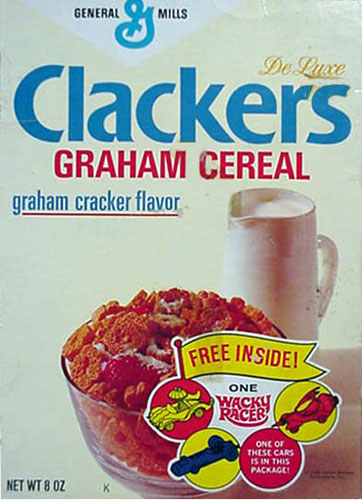 Clackers Cereal Box