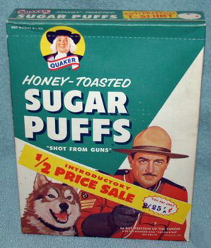 Sugar Puffs (Quaker): Vintage Sugar Puffs Box