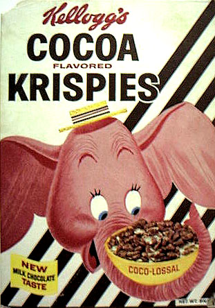 Cocoa Krispies: Early 1960's Cocoa Krispies Cereal Box Kelloggs Rice Krispies