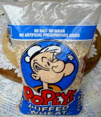 Popeye Puffed Wheat Popeye Puffed Wheat Bag