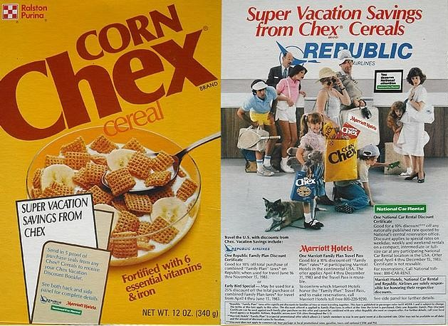 Corn Chex Super Vacation Savings Box