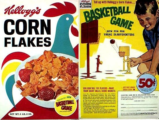 Corn Flakes Basketball Game Box