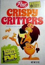 Crispy Critters Cereal Box - Jungle Fun