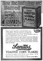 1907 Sanitas Cereal Ad