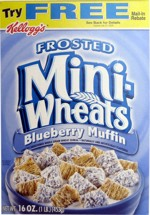 Blueberry Muffin Mini-Wheats: Front