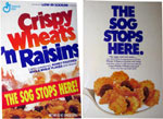 Crispy Wheats 'N Raisins - Front & Back