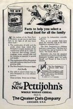 1920 Pettijohns Cereal Ad