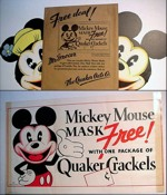 Quaker Crackels Mickey Mouse Masks