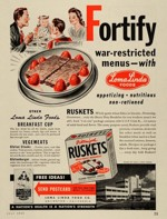 Ruskets Wartime Ad