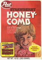 1983 Strawberry Honeycomb Cereal Box