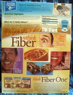 Fiber One Frosted Shredded Wheat - Back