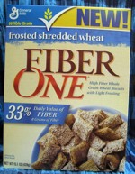 Fiber One Frosted Shredded Wheat - Front