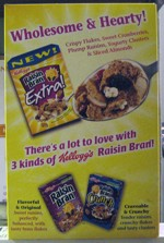 Rasin Bran Extra! Cereal Box - Back