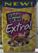 Rasin Bran Extra! Cereal Box - Front