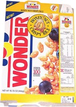 1991 Wonder Cereal Box