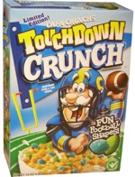 Touchdown Crunch Cereal Box