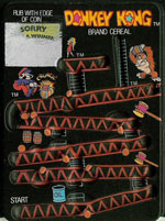 Donkey Kong Cereal Rub-Off Card 3