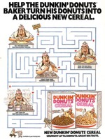 Dunkin' Donuts Cereal Maze Ad