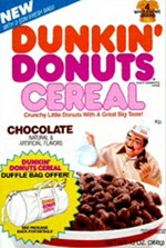 Chocolate Dunkin Donuts Cereal Box