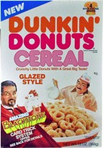 Awesome Dunkin Donuts Cereal Box