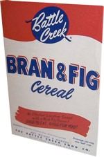 Bran Fig Cereal Box - Front