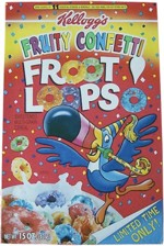 1997 Fruity Confetti Froot Loops Box