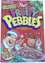 1997 Holiday Fruity Pebbles Cereal Box