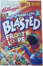 1998 Marshmallow Blasted Froot Loops Box
