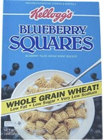 1988 Blueberry Squares Cereal Box