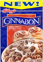 Cinnabon Cereal Box - Front