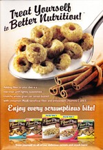 Cinnamon Oat Crunch Cereal Box - Back