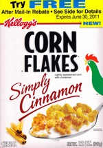 Simply Cinnamon Corn Flakes Box - Front