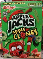 Apple Clones Cereal Box - Front