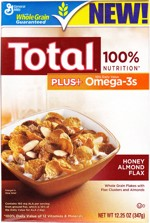 Total Plus Honey Almond Flax - Front