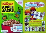 Apple Jacks Fuzzy Figure Sticker Box