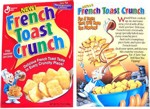 1996 French Toast Crunch Cereal Box